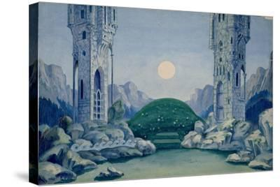 Set Design for the Premiere of 'The Wooden Prince'--Stretched Canvas Print