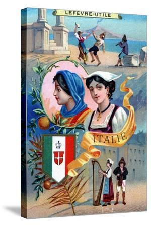 Italy, from a Series of Promotional Cards for Lefevre-Utile--Stretched Canvas Print
