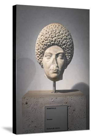 Portrait of Domitia, About 96 Ad, National Museum of Rome--Stretched Canvas Print