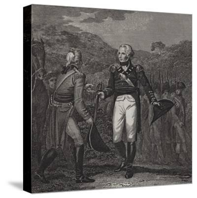 Surrender of General Burgoyne's Army at Saratoga, 1777--Stretched Canvas Print