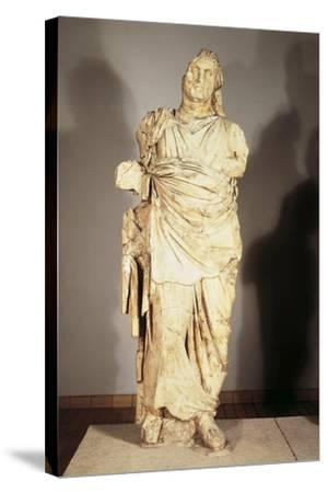Colossal Statue from the Mausoleum at Halicarnassus--Stretched Canvas Print