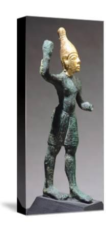 Statuette Depicting Standing God, Bronze and Gold Artefact from Ugarit--Stretched Canvas Print