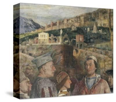 Detail of Fresco in Bridal Chamber-Andrea Mantegna-Stretched Canvas Print