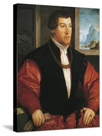 Portrait of Christoph Baumgartner-Christoph Amberger-Stretched Canvas Print