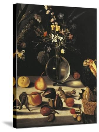 Still Life with Flowers and Fruit-Caravaggio-Stretched Canvas Print