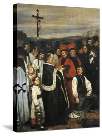A Burial at Ornans, 1849-1850-Gustave Courbet-Stretched Canvas Print