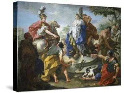Olynthus and Sophronia-Giovanno Battista Pittoni-Stretched Canvas Print