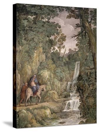 Flight into Egypt, 1621-1630-Pietro da Cortona-Stretched Canvas Print