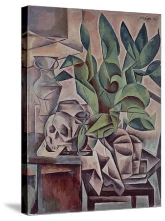 Still Life Showing Skull, 1912-Kubista Bohumil-Stretched Canvas Print