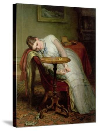 Hope Deferred, and Hopes and Fears That Kindle Hope, before 1877-Charles West Cope-Stretched Canvas Print