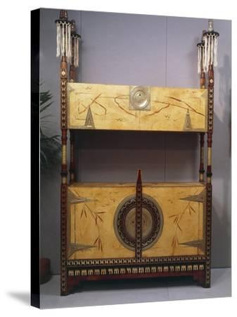 Art Nouveau Style Two Tier Piece of Furniture, 1902-Carlo Bugatti-Stretched Canvas Print