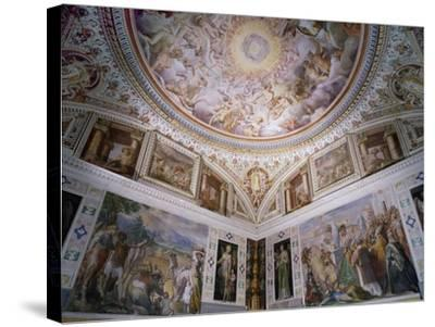Hall of Angels, with Ceiling Frescoes-Giovanni De Vecchi-Stretched Canvas Print