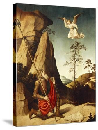 The Miracle of Fleece of Gideon, 1500-Nicolas Dipre-Stretched Canvas Print