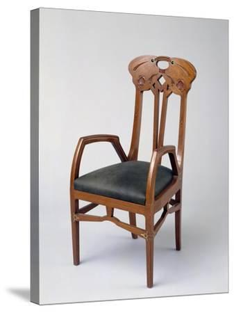 Armchair, Part of a Room Exhibited in Milan in 1906-Eugenio Quarti-Stretched Canvas Print