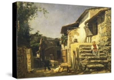 Colonial House in Sorrento, 1859-Filippo Palizzi-Stretched Canvas Print