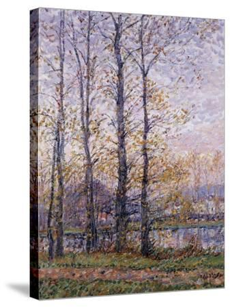 The Banks of the Oise at Precy; Les Bords De L'Oise a Precy-Gustave Loiseau-Stretched Canvas Print