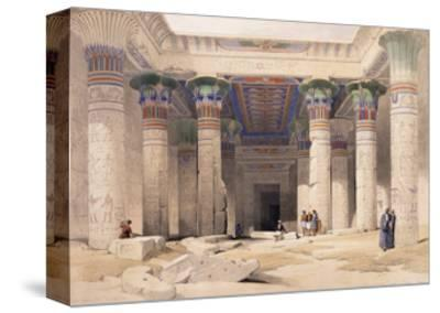 Grand Portico of the Temple of Philae - Nubia, 1842-1849-David Roberts-Stretched Canvas Print