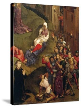 Kiss of Judas, Detail from Passion of Christ, 1471-Hans Memling-Stretched Canvas Print