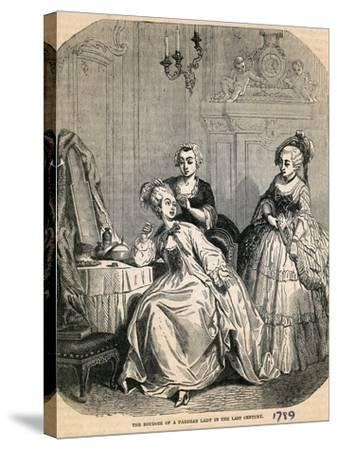 The Boudoir of a Parisian Lady in the Last Century, 1789--Stretched Canvas Print