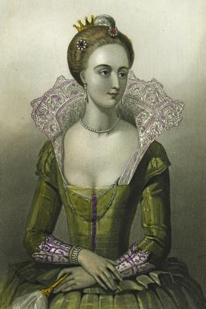 Anne of Denmark, Queen Consort of James I of Great Britain, 1856--Stretched Canvas Print