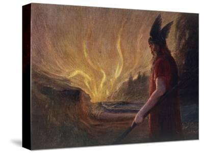 Wotan's Farewell to Brunnhilde--Stretched Canvas Print