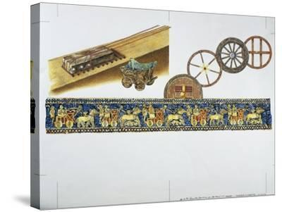Reconstruction of the Wheel in Ancient Times, 1996--Stretched Canvas Print