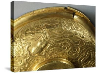 Gold Cup with Embossed Decoration, from Tholos of Dendra, Near Midea--Stretched Canvas Print