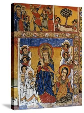 Virgin, Scenes from Sacred Books, Paintings in Ura Kidane Meret Monastery--Stretched Canvas Print