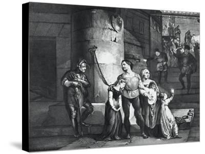 Illustration for the Tragedy Il Conte Di Carmagnola--Stretched Canvas Print