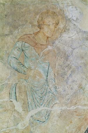 Daniel in Lions' Den, Fresco of Chapter House, Abbey of Cluny--Stretched Canvas Print