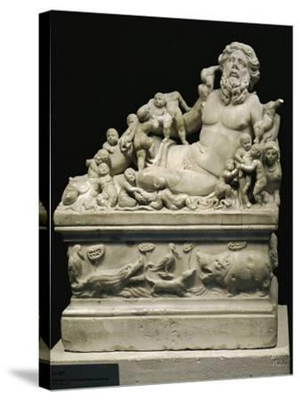 Marble Statue Representing Tiber River, Copy on Smaller Scale of Statue--Stretched Canvas Print