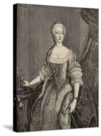 Elisabeth Christine of Brunswick-Wolfenbuttel-Bevern--Stretched Canvas Print