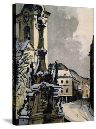 View of Hainburg an Der Donau, Austria, City Where Franz Joseph Haydn--Stretched Canvas Print