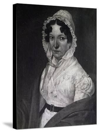 Portrait of Anna Guidarini, Mother of Italian Composer Gioachino Rossini--Stretched Canvas Print