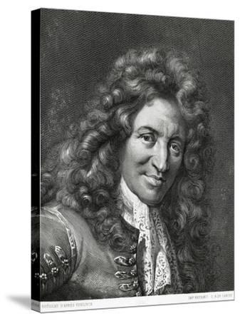 Portrait of Giovanni Battista Lulli or Jean-Baptiste Lully--Stretched Canvas Print
