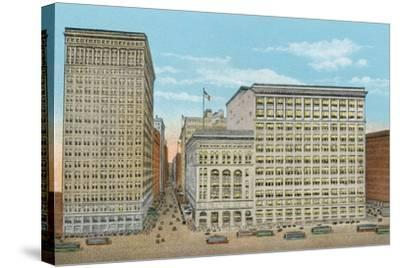 Marshall Field and Company, Retail Stores, Wabash and Washington--Stretched Canvas Print