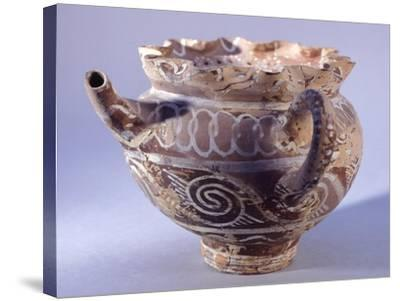Spout Vase, Kamares-Style Pottery from Phaistos Palace, Crete--Stretched Canvas Print