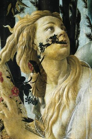 Nymph Cloris, Detail of Allegory of Spring by Sandro Botticelli--Stretched Canvas Print