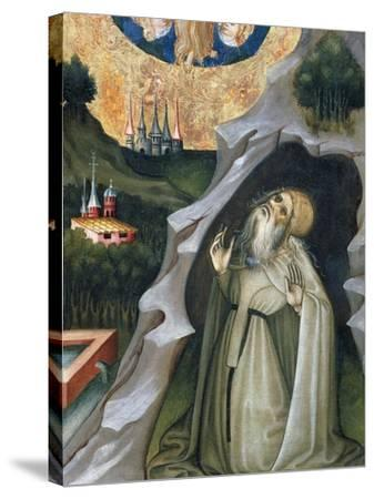 Hermit in Ecstasy, Detail from the Altarpiece of St Mary Magdalene--Stretched Canvas Print