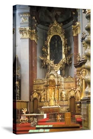 Main Altar of the Church of St. Giles in Prague, Czech Republic--Stretched Canvas Print