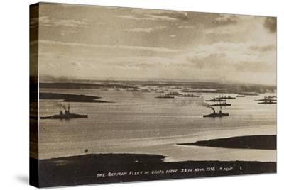 German High Seas Fleet Interned at Scapa Flow, Orkney, 28 November 1918--Stretched Canvas Print