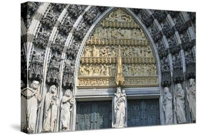 Cologne Cathedral, Main Portal of the West Facade, Cologne, Germany--Stretched Canvas Print
