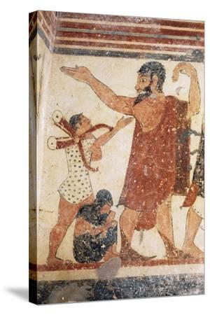 Priest Taking Leave, Fresco, Tomb of Augurs, Monterozzi Necropolis--Stretched Canvas Print