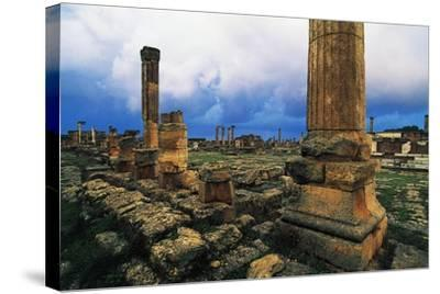 Roman Forum and Greek Agora, Greco-Roman City of Cyrene--Stretched Canvas Print