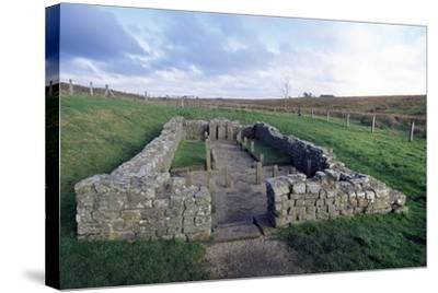 Temple of Mithras, Carrawburgh Roman Fort, Hadrian's Wall--Stretched Canvas Print