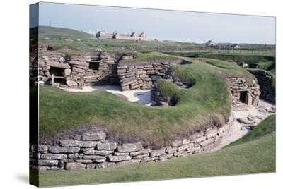Ruins of a Prehistoric Neolithic Village of Skara Brae--Stretched Canvas Print