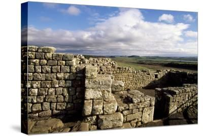 Ruins at the Southern Entrance, Housesteads Roman Fort, Hadrian's Wall--Stretched Canvas Print