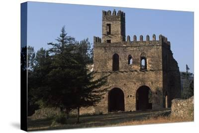 Imperial Enclosure and Gate of Yohannes I, Gondar--Stretched Canvas Print