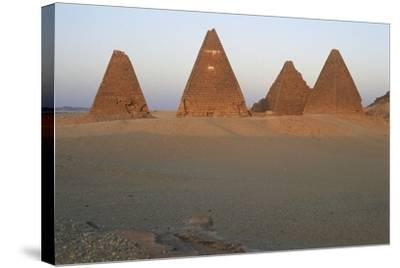 Pyramids of Black Pharaohs, Gebel Barkal and Sites of Napatan Region--Stretched Canvas Print