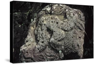 Bird Man, Rock Carving Near Orongo, Rapa Nui National Park--Stretched Canvas Print